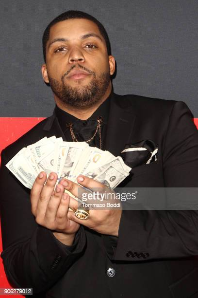 Shea Jackson Jr attends the Premiere Of STX Films' 'Den Of Thieves' at Regal LA Live Stadium 14 on January 17 2018 in Los Angeles California