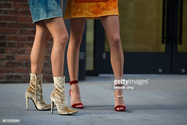 Shea Marie and Caroline Vreelan shoe details at the Thakoon show on September 8 2016 in New York City