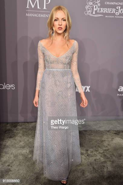 Shea Marie attends the 2018 amfAR Gala New York at Cipriani Wall Street on February 7 2018 in New York City