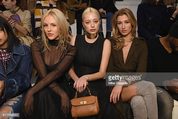 Shea Marie Caroline Vreeland and Laura Remington Platt attend the Ralph Lauren Fall 2016 fashion show during New York Fashion Week The Shows at...