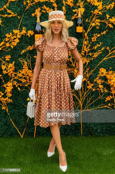 Shea Marie wearing dress by Caroline Constas attends 12th Annual Veuve Clicquot Polo Classic at Liberty State Park