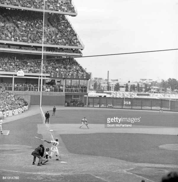Donn Clendenon 1st baseman for the NY Mets hits a home run in Game 5 of the World Series against the Baltimore Orioles Donn would become the MVP of...