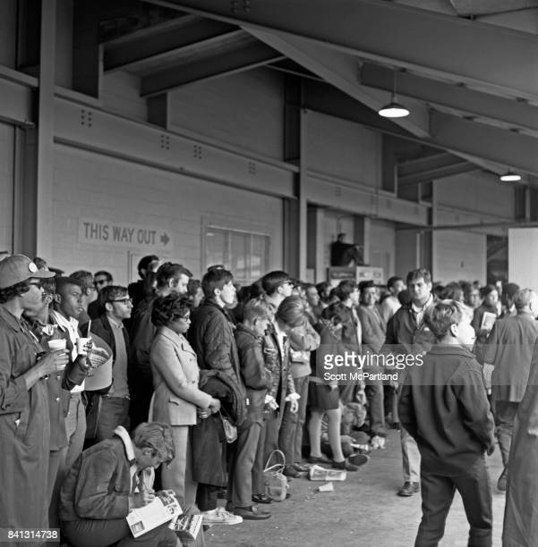 Fans line up along the walkways at Shea Stadium and watch the NY Mets take on the Baltimore Orioles in Game 5 of the 1969 World Series