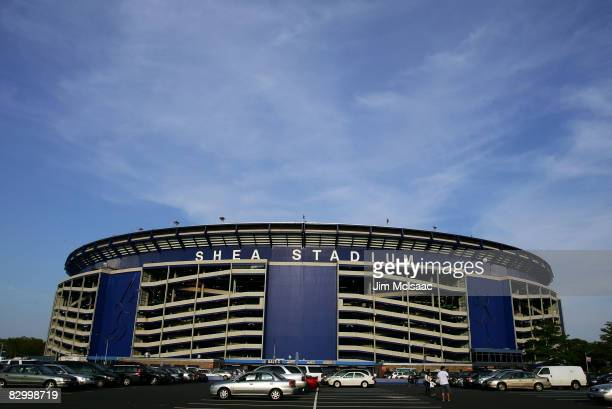 Shea Stadium, home of the New York Mets, is seen before their game against the Chicago Cubs at Shea Stadium September 24, 2008 in the Flushing...
