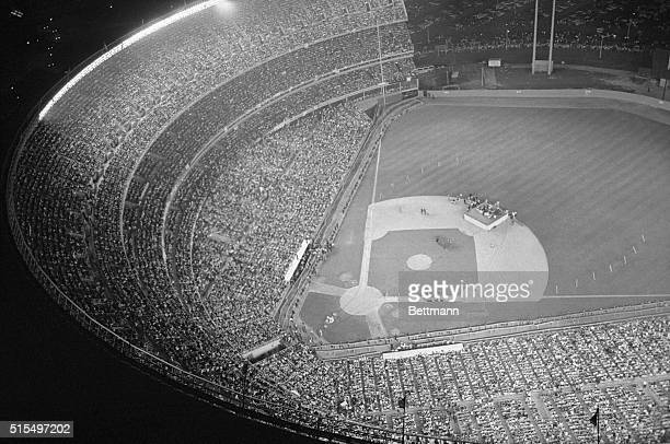 Shea Stadium is jam-packed with Beatles fans during a performance given by the British singing group at Shea Stadium. Enthusiastic fans of the modern...