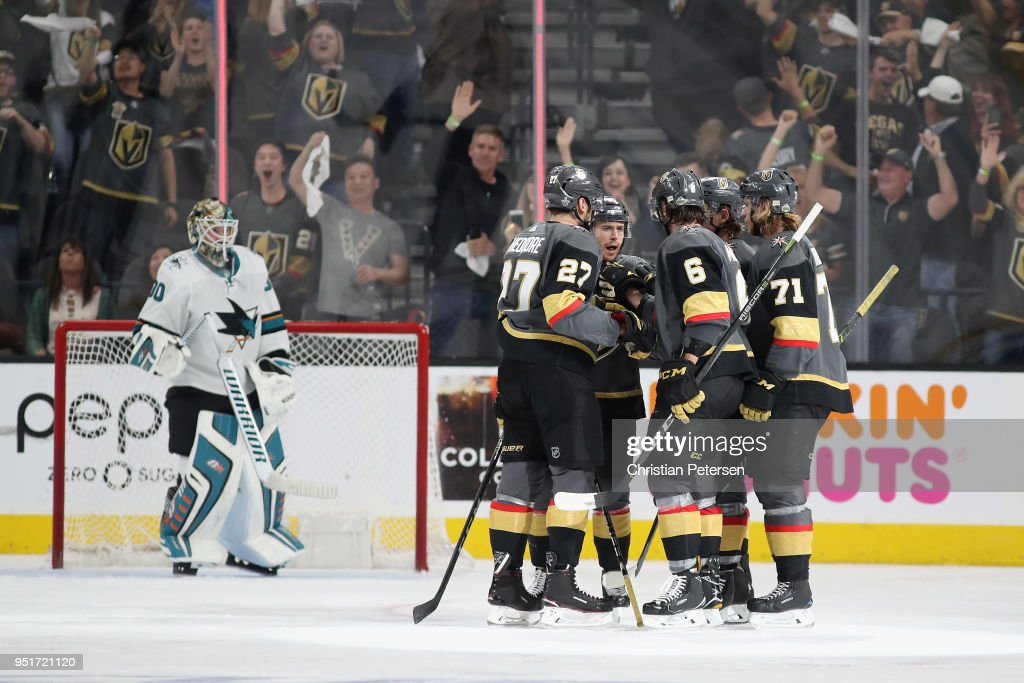 San Jose Sharks v Vegas Golden Knights - Game One : News Photo