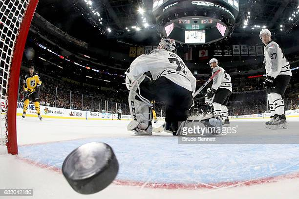 Shea Weber of the Montreal Canadiens Braden Holtby of the Washington Capitals Sidney Crosby of the Pittsburgh Penguins and Ryan McDonagh of the New...