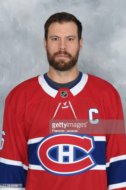 Shea Weber of the Montreal Canadiens poses for his official headshot for the 2019-2020 season on September 13, 2019 at the Bell Sports Complex in...