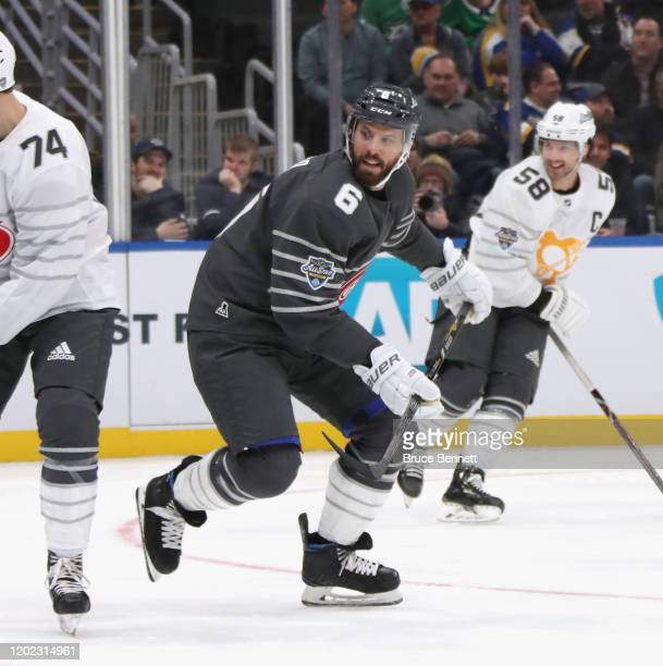 Shea Weber of the Montreal Canadiens skates in the game between Metropolitan Division and Atlantic Division during the 2020 Honda NHL AllStar Game at...