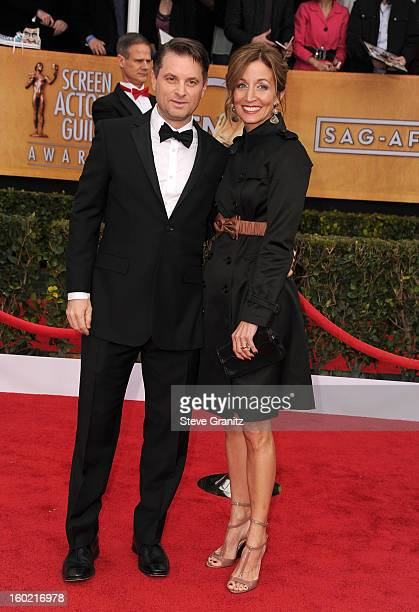 Shea Whigham and Christine Whigham arrive at the 19th Annual Screen Actors Guild Awards held at The Shrine Auditorium on January 27 2013 in Los...