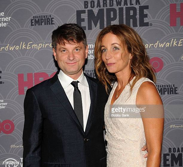 Shea Whigham and Christine Whigham attend the premiere of HBO's Boardwalk Empire at the Ziegfeld Theater on September 3 2013 in New York City