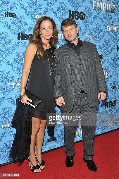 Shea Whigham and wife Christine Whigham attend HBO's Boardwalk Empire Season Three New York Premiere at Ziegfeld Theater on September 5 2012 in New...
