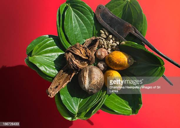 Sheaf of betel leaves