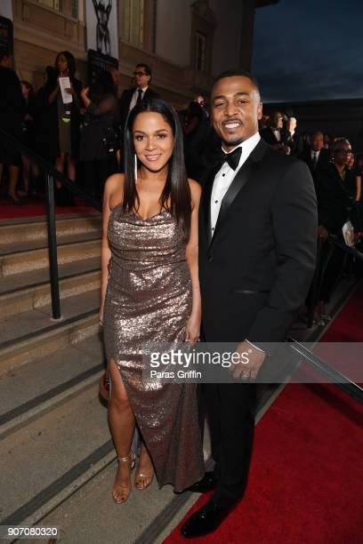 Sheana Freeman and RonReaco Lee attend the 49th NAACP Image Awards at Pasadena Civic Auditorium on January 15 2018 in Pasadena California