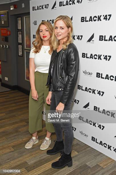 Sheana Kerslake and Niamh Algar attend a Gala Screening of Black '47 at Odeon Covent Garden on September 26 2018 in London England