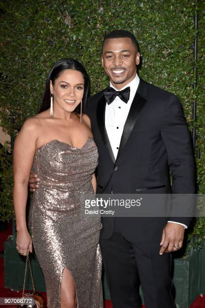 Sheana Lee and RonReaco Lee attend the 49th NAACP Image Awards Arrivals at Pasadena Civic Auditorium on January 15 2018 in Pasadena California