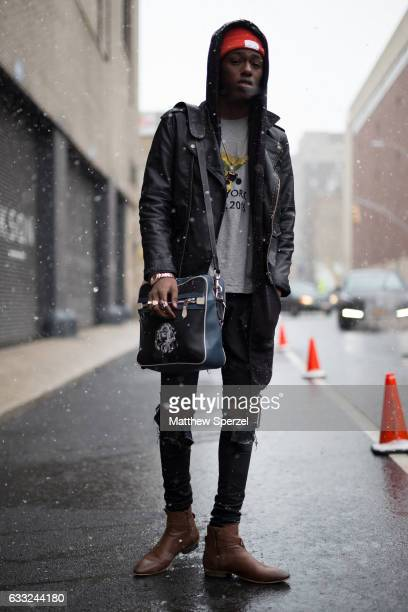 Sheani Gist is seen attending Nick Graham/Garciavelez/Dim Mak wearing Coach and Ovadia and Sons on January 31 2017 in New York City