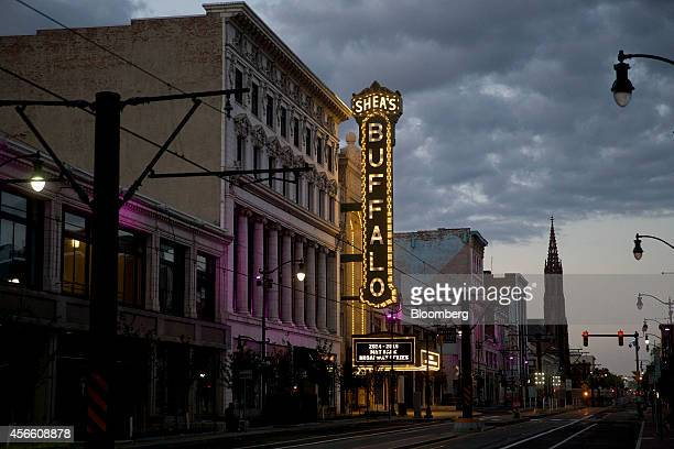 Shea's Performing Art Center stands along Main Street in Buffalo, New York, U.S., on Wednesday, Sept. 24, 2014. The Federal Reserve Bank of New...
