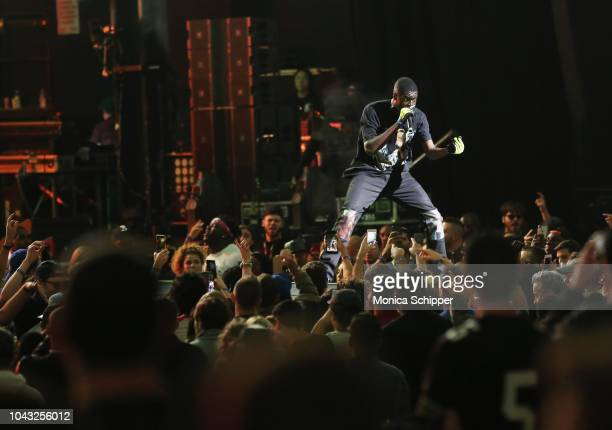 Sheck Wes performs onstage during Chance The Rapper to Headline Spotify's RapCaviar Live In Brooklyn in Partnership with Live Nation Urban and...