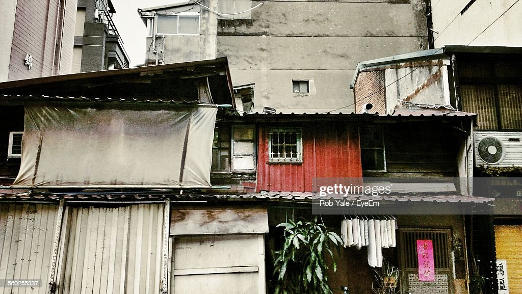 Sheds In Urban Ghetto Stock Photo - Getty Images