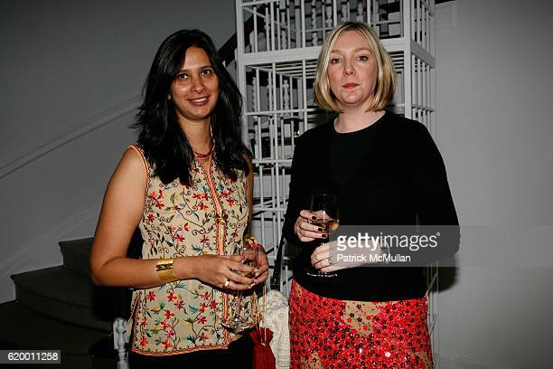 Sheena Acharya and Amanda Sawyer attend DOMINIQUE LEVY DOROTHY BERWIN and RICHARD GEOFFROY launch four extraordinary DOM PERIGNON vintages at L M...