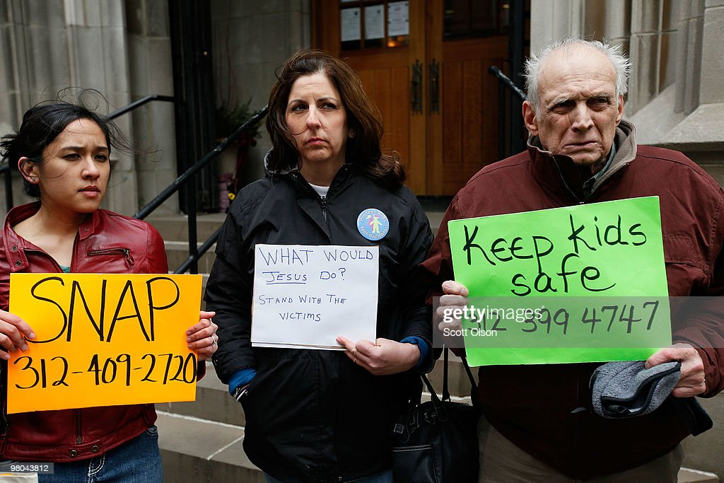 Protesters Speak Out About Priest Abuse In Wisconsin : News Photo