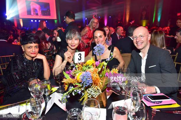 Sheena Matheiken Sharon Chang Susanne Cohen and Arthur Bastings at NYU Tisch School of the Arts GALA 2018 at Capitale on April 16 2018 in New York...