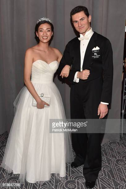 Sheena Qiao and Marc Mayral attend the 63rd Viennese Opera Ball at The Ziegfeld Ballroom on February 2 2018 in New York City