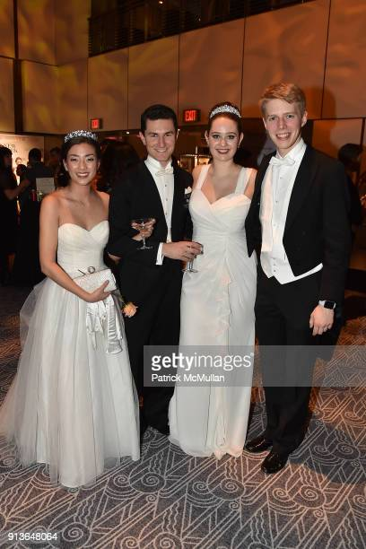 Sheena Qiao Marc Mayral Emma Schrott and Stefan Lehfer attend the 63rd Viennese Opera Ball at The Ziegfeld Ballroom on February 2 2018 in New York...