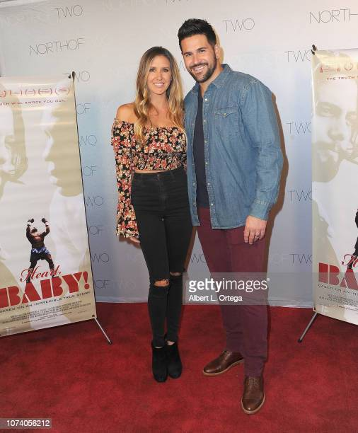 Sheena Ryan and Eddie Pena arrive for the premiere of 'Heart Baby' held at The Ahrya Fine Arts Laemmle Theater on November 23 2018 in Beverly Hills...