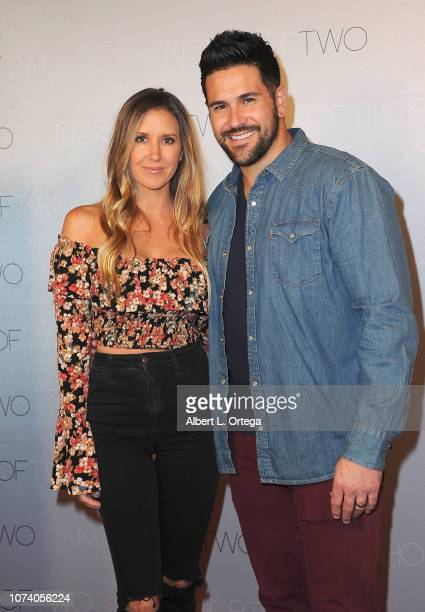 Sheena Ryan and Eddie Pena arrive for the premiere of 'Heart Baby' held at Ahrya Fine Arts Theater on November 23 2018 in Beverly Hills California