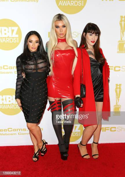 Sheena Ryder Aubrey Kate and Lena Kelly attend the XBIZ Awards 2020 on January 16 2020 in Los Angeles California