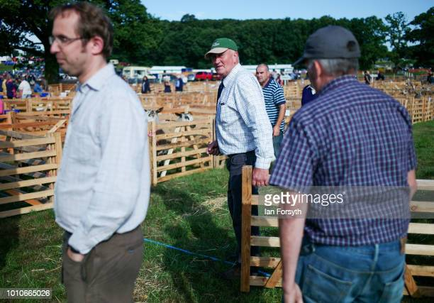 Sheep farmers prepare to unload sheep during 152nd the Ryedale Country Show on July 31 2018 in Kirbymoorside England Held in Welburn Park near...