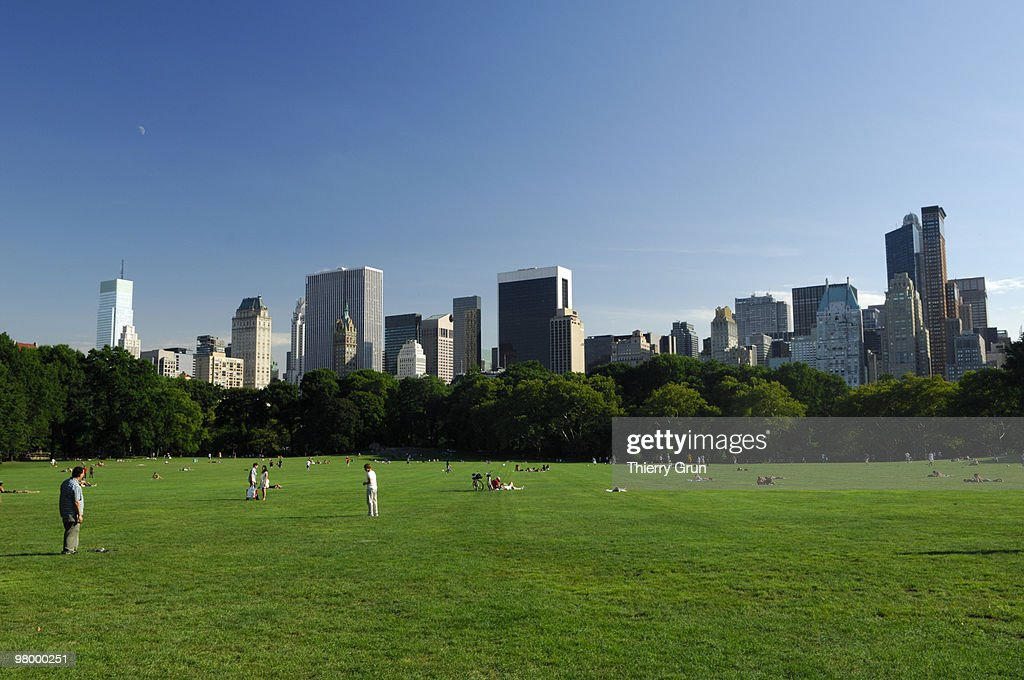 'Sheep meadow', Central park, New York City : Stock Photo