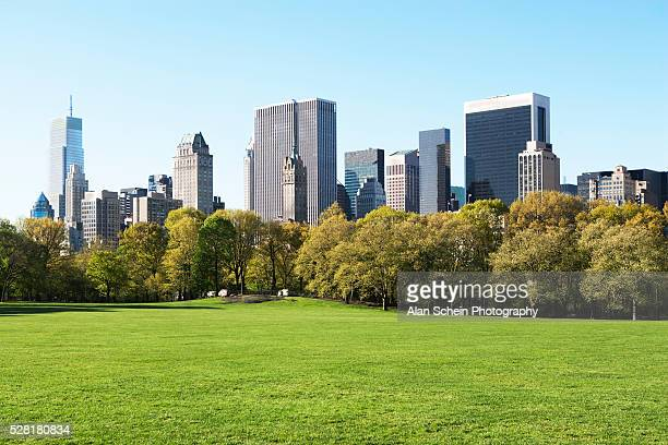 sheep meadow in central park, new york city, new york state, usa - central park stock pictures, royalty-free photos & images