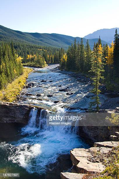 sheep river falls - kananaskis country stock pictures, royalty-free photos & images
