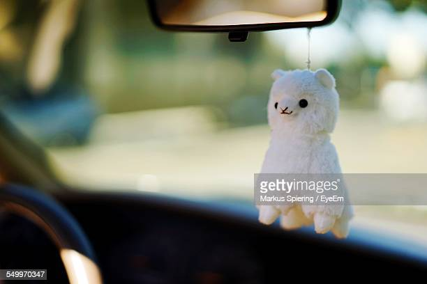 Sheep Toy Hanging In Car