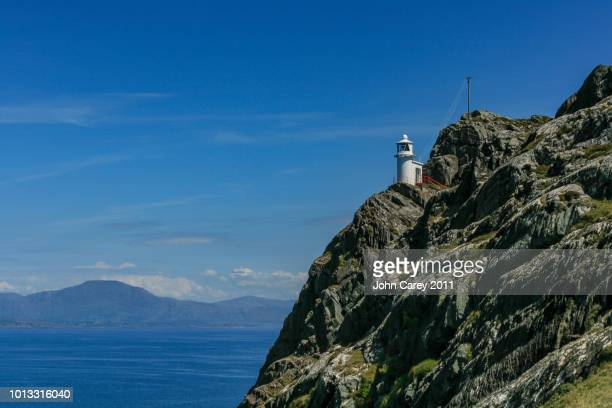 sheep's head lighthouse & beautiful landscape, beara peninsula, west cork, ireland - county cork stock pictures, royalty-free photos & images