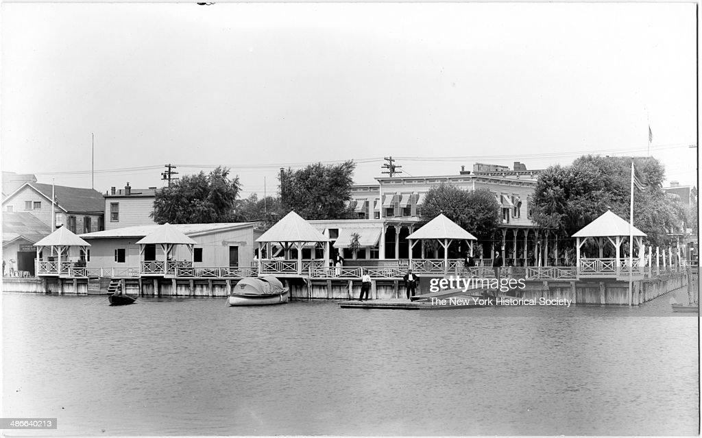 Sheepshead Bay Rowing Club And Olagner S Ocean View Hotel Brooklyn New York
