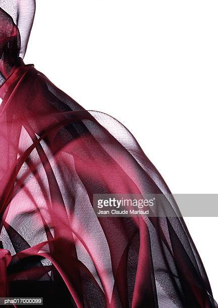 Sheer red fabric,