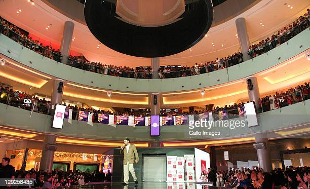 Sheeraz Hasan attends the opening of the new Millions of Milkshakes store at Dubai Mall on October 14 2011 in Dubai United Arab Emitates
