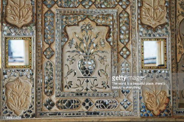 sheesh mahal of amber fort, jaipur - amber fort stock pictures, royalty-free photos & images