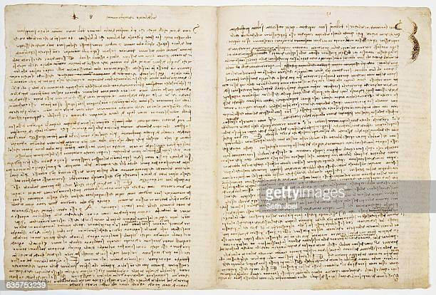 Sheet 8B On folio 8v Leonardo explores at great length why fossilized shells found far from the sea or in the mountains could not have been deposited...