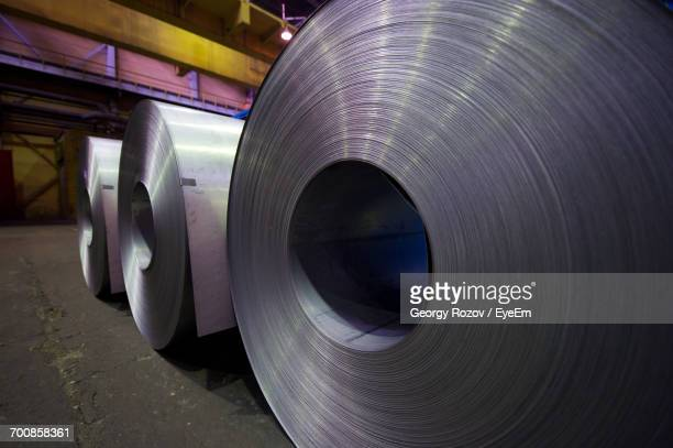 Sheet Metals In Row At Upper Iset Plant