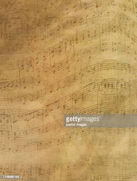sheet music abstract background - musical note stock photos and pictures