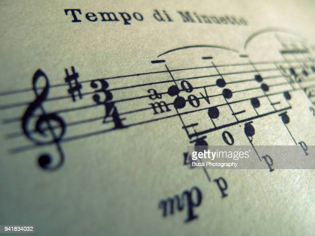 sheet music close-up - sheet music stock photos and pictures