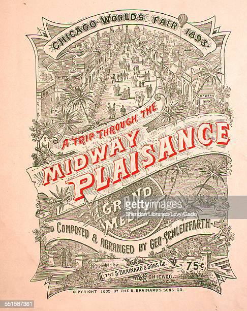Sheet music cover image of 'A Trip Through the Midway Plaisance Grand Medley ' by Geo Schleiffarth with lithographic or engraving notes reading 'CL...