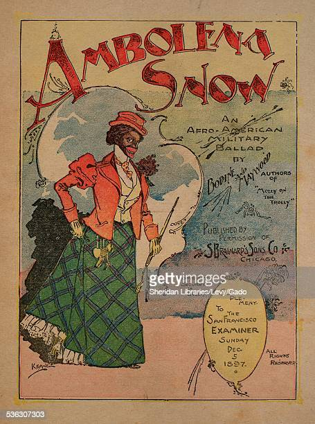 Sheet music cover image of 'Ambolena Snow An Afro-American Military Ballad' by Bodine, Maywood, Lester Bodine and Geo Maywood, with lithographic or...