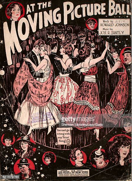 Sheet music cover image of 'At the Moving Picture Ball' by Howard Johnson and Jos H Santly New York New York 1920