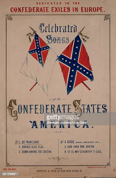 Sheet music cover image of 'Celebrated Songs of the Confederate States of America No 1 My Maryland' with lithographic or engraving notes reading...